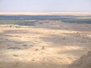 vista desde el cstillo arabe de palmira