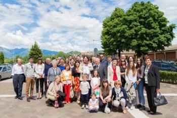 los invitados al bautizo en Italia