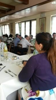 bautizo italiano la comida en el restaurante