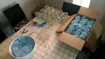 preparacion bomboniere bautizo italiano